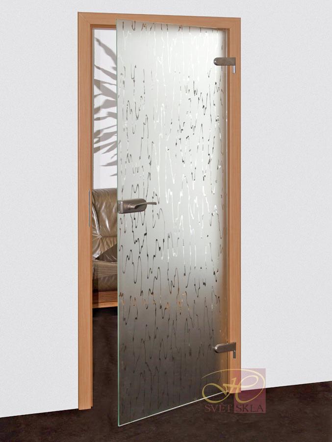 trapa skleněné dveře