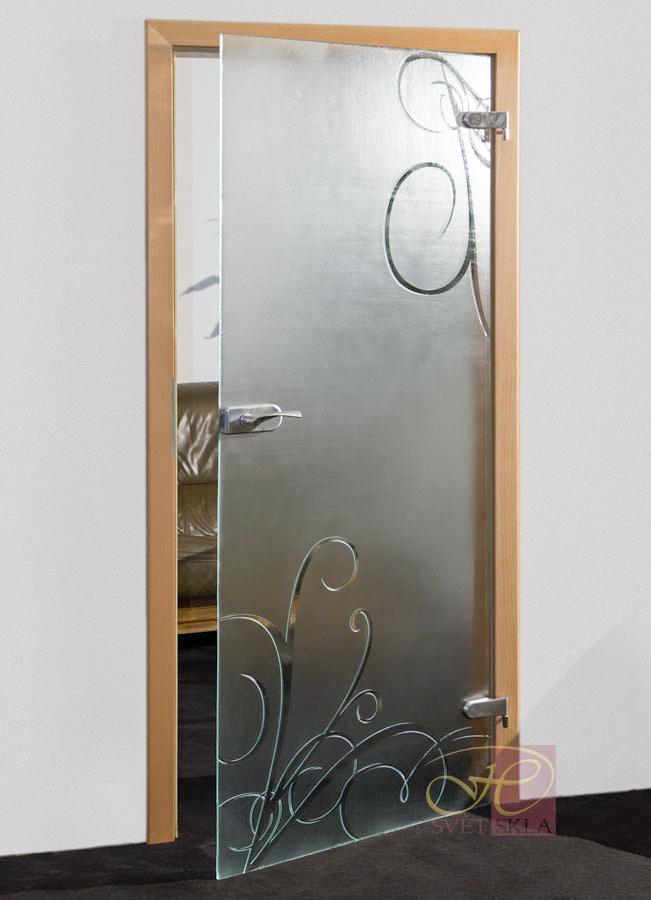 caulis skleněné dveře