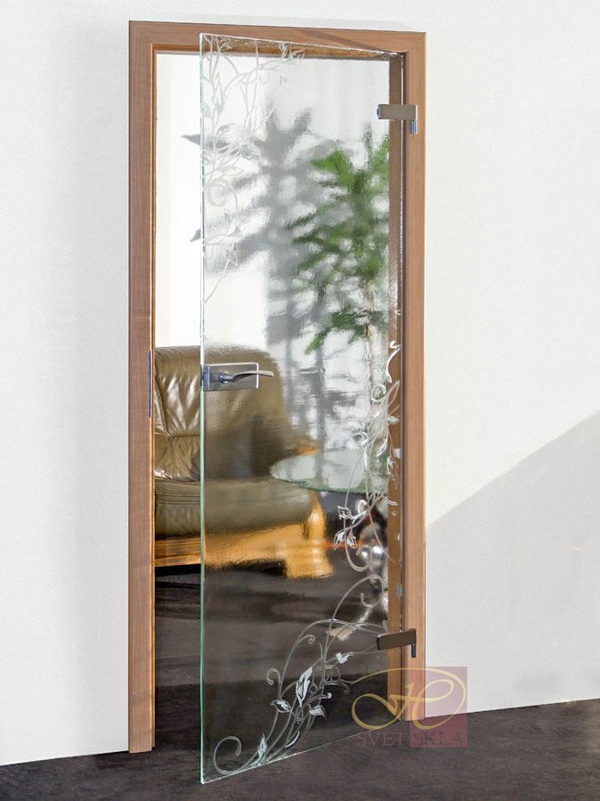 helix skleněné dveře